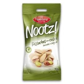 Nootz Pistache Torrado/Salgado C/Casca La Violetera Pacote 40g