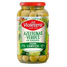 Azeitona Verde com caroço La Violetera 500g