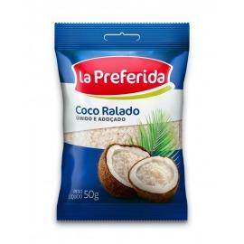 Coco Ralado La Preferida Úmido e Açucarado 50g
