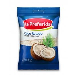 Coco Ralado La Preferida Úmido e Açucarado 100g