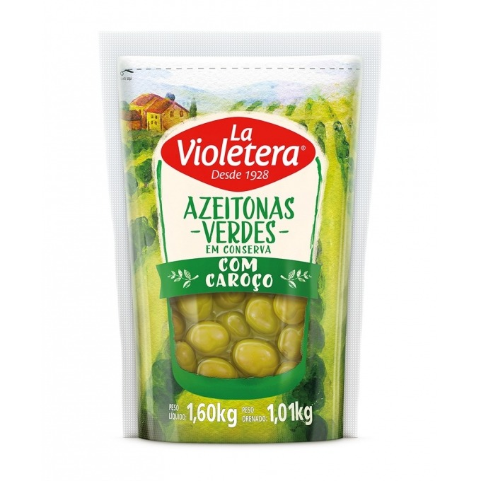 Azeitona verde com caroço La Violetera 1,01 kg