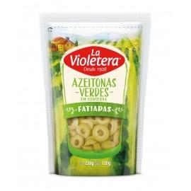 Azeitona verde fatiada La Violetera refil doy pack 120 gr