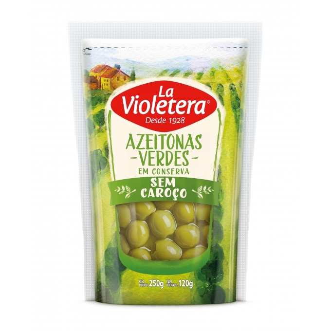 Azeitona verde sem caroço La Violetera 120g