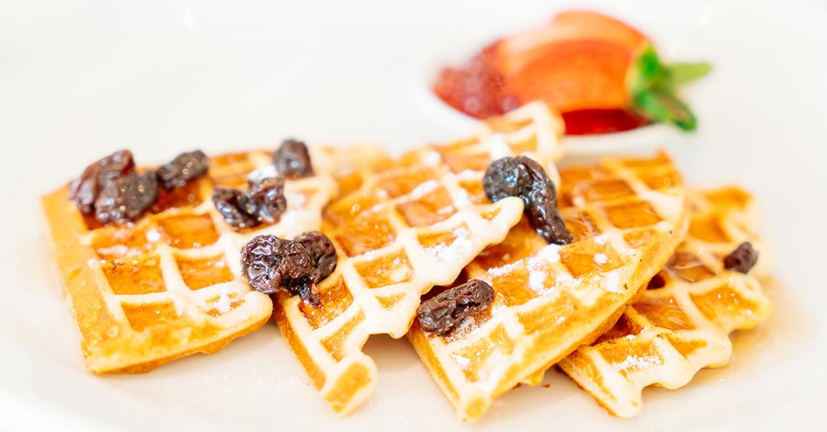 Receita de waffle fitness saudável